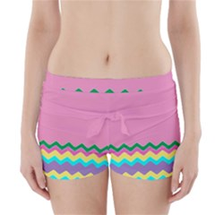 Easter Chevron Pattern Stripes Boyleg Bikini Wrap Bottoms by Amaryn4rt