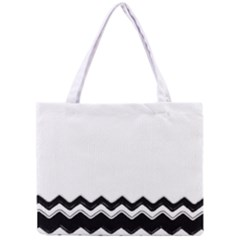 Chevrons Black Pattern Background Mini Tote Bag by Amaryn4rt