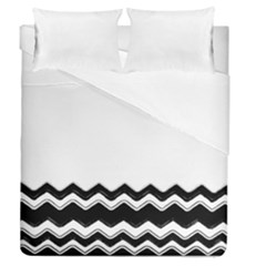 Chevrons Black Pattern Background Duvet Cover Double Side (queen Size) by Amaryn4rt