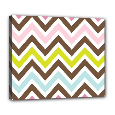 Chevrons Stripes Colors Background Deluxe Canvas 24  X 20   by Amaryn4rt