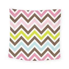 Chevrons Stripes Colors Background Square Tapestry (small)