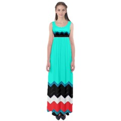 Pattern Digital Painting Lines Art Empire Waist Maxi Dress by Amaryn4rt