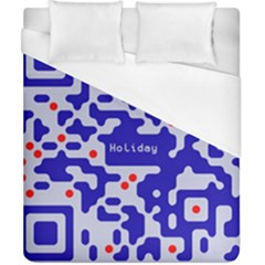 Digital Computer Graphic Qr Code Is Encrypted With The Inscription Duvet Cover (california King Size) by Amaryn4rt