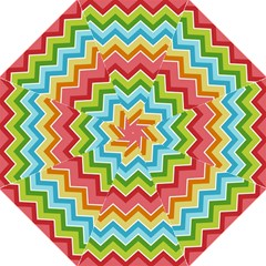 Colorful Background Of Chevrons Zigzag Pattern Folding Umbrellas by Amaryn4rt