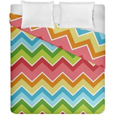 Colorful Background Of Chevrons Zigzag Pattern Duvet Cover Double Side (california King Size) by Amaryn4rt