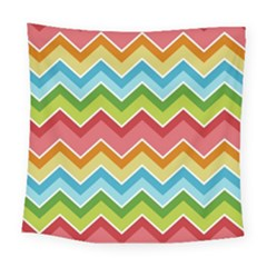 Colorful Background Of Chevrons Zigzag Pattern Square Tapestry (large)
