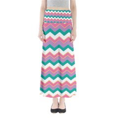 Chevron Pattern Colorful Art Maxi Skirts by Amaryn4rt