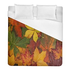 Colorful Autumn Leaves Leaf Background Duvet Cover (full/ Double Size) by Amaryn4rt
