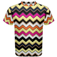 Colorful Chevron Pattern Stripes Men s Cotton Tee