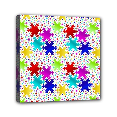 Snowflake Pattern Repeated Mini Canvas 6  X 6