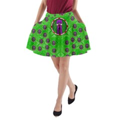 Smoking Hot Cartoon Lady A Line Pocket Skirt by pepitasart