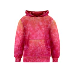 Abstract Red Octagon Polygonal Texture Kids  Pullover Hoodie by TastefulDesigns