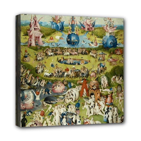 Hieronymus Bosch Garden Of Earthly Delights Mini Canvas 8  X 8  by MasterpiecesOfArt