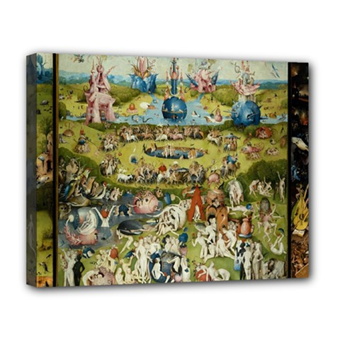 Hieronymus Bosch Garden Of Earthly Delights Canvas 14  X 11  by MasterpiecesOfArt