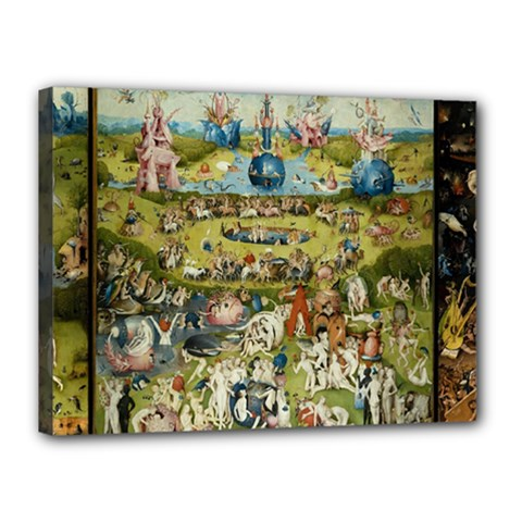 Hieronymus Bosch Garden Of Earthly Delights Canvas 16  X 12  by MasterpiecesOfArt