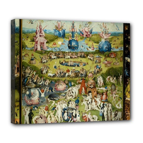 Hieronymus Bosch Garden Of Earthly Delights Deluxe Canvas 24  X 20   by MasterpiecesOfArt