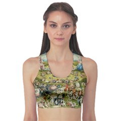 Hieronymus Bosch Garden Of Earthly Delights Sports Bra by MasterpiecesOfArt