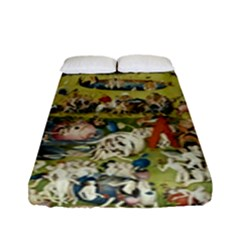 Hieronymus Bosch Garden Of Earthly Delights Fitted Sheet (full/ Double Size) by MasterpiecesOfArt