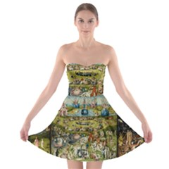 Hieronymus Bosch Garden Of Earthly Delights Strapless Bra Top Dress by MasterpiecesOfArt