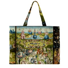 Hieronymus Bosch Garden Of Earthly Delights Zipper Large Tote Bag by MasterpiecesOfArt