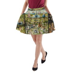 Hieronymus Bosch Garden Of Earthly Delights A Line Pocket Skirt by MasterpiecesOfArt
