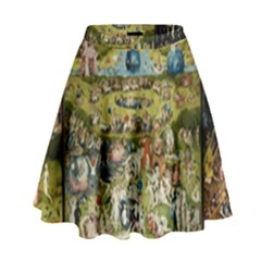 Hieronymus Bosch Garden Of Earthly Delights High Waist Skirt by MasterpiecesOfArt
