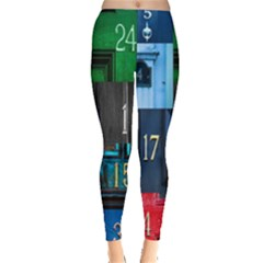 Door Number Pattern Leggings  by Amaryn4rt