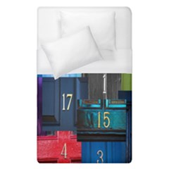 Door Number Pattern Duvet Cover (single Size) by Amaryn4rt