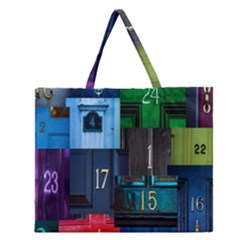 Door Number Pattern Zipper Large Tote Bag by Amaryn4rt