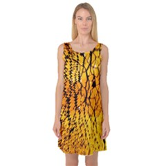 Yellow Chevron Zigzag Pattern Sleeveless Satin Nightdress by Amaryn4rt