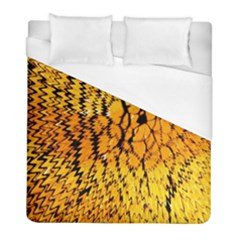 Yellow Chevron Zigzag Pattern Duvet Cover (full/ Double Size)