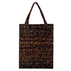 Colorful And Glowing Pixelated Pattern Classic Tote Bag by Amaryn4rt