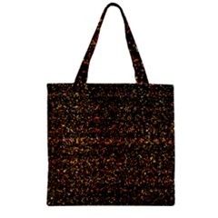 Colorful And Glowing Pixelated Pattern Zipper Grocery Tote Bag