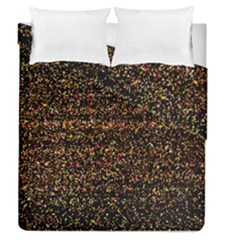 Colorful And Glowing Pixelated Pattern Duvet Cover Double Side (queen Size) by Amaryn4rt