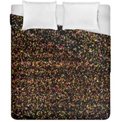 Colorful And Glowing Pixelated Pattern Duvet Cover Double Side (california King Size) by Amaryn4rt