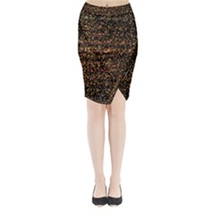 Colorful And Glowing Pixelated Pattern Midi Wrap Pencil Skirt by Amaryn4rt
