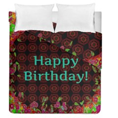 Happy Birthday To You! Duvet Cover Double Side (queen Size) by Amaryn4rt