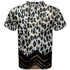 Tiger Background Fabric Animal Motifs Men s Cotton Tee