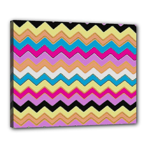 Chevrons Pattern Art Background Canvas 20  X 16