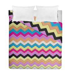 Chevrons Pattern Art Background Duvet Cover Double Side (full/ Double Size) by Amaryn4rt