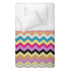 Chevrons Pattern Art Background Duvet Cover (single Size) by Amaryn4rt