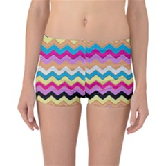 Chevrons Pattern Art Background Reversible Bikini Bottoms by Amaryn4rt