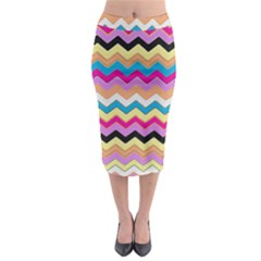 Chevrons Pattern Art Background Midi Pencil Skirt by Amaryn4rt