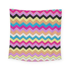 Chevrons Pattern Art Background Square Tapestry (small)