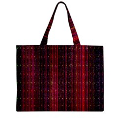 Colorful And Glowing Pixelated Pixel Pattern Zipper Mini Tote Bag by Amaryn4rt