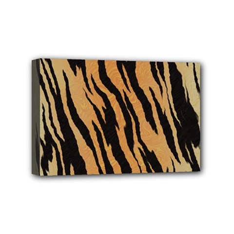 Tiger Animal Print A Completely Seamless Tile Able Background Design Pattern Mini Canvas 6  X 4