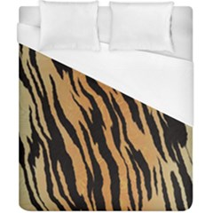 Tiger Animal Print A Completely Seamless Tile Able Background Design Pattern Duvet Cover (california King Size) by Amaryn4rt