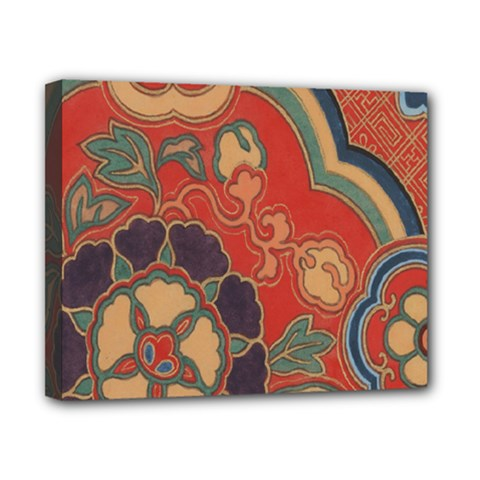 Vintage Chinese Brocade Canvas 10  X 8  by Amaryn4rt
