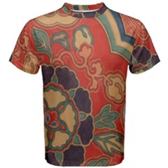Vintage Chinese Brocade Men s Cotton Tee