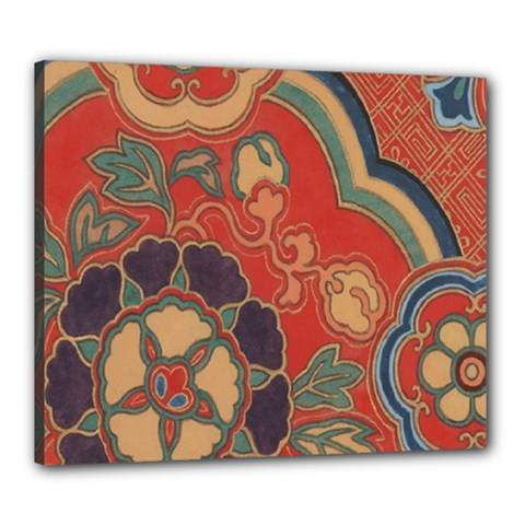 Vintage Chinese Brocade Canvas 24  X 20  by Amaryn4rt
